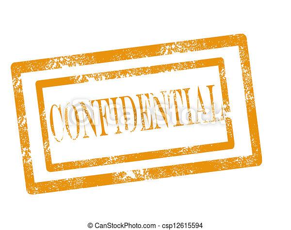 Confidential stamp - csp12615594
