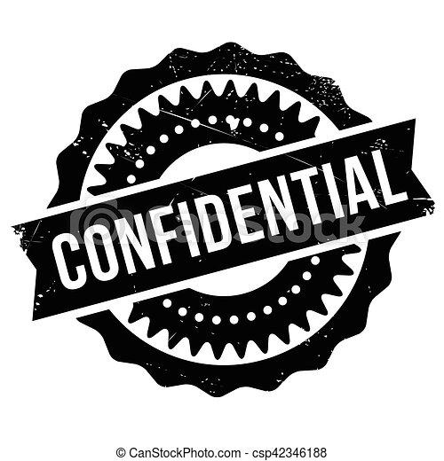 Confidential stamp - csp42346188