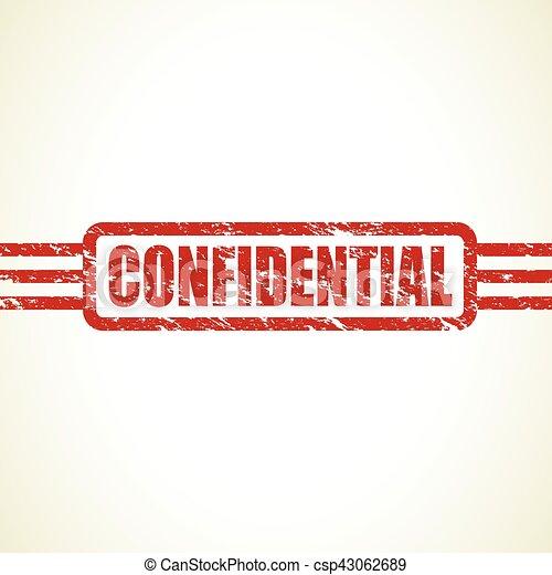 confidential stamp - csp43062689