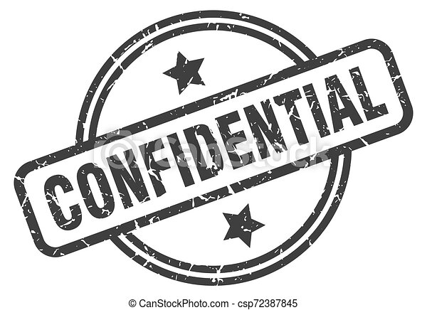 confidential stamp - csp72387845