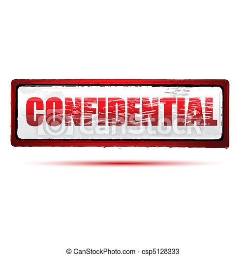 confidential stamp - csp5128333