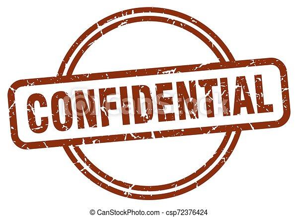 confidential stamp - csp72376424