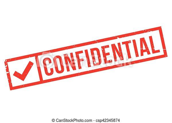 Confidential stamp - csp42345874