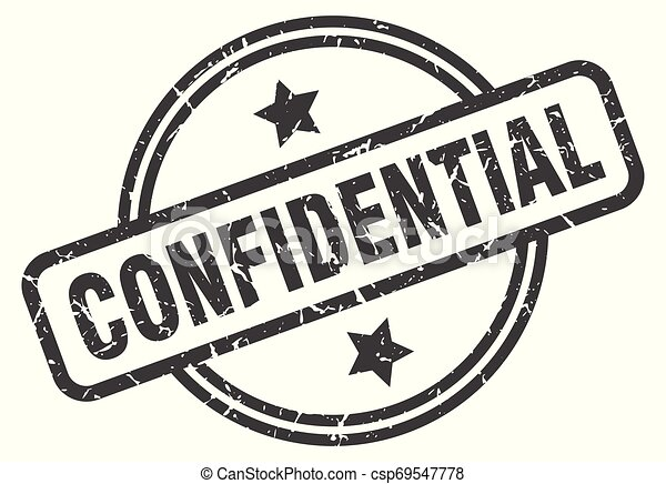 confidential stamp - csp69547778
