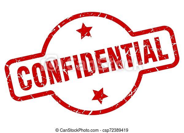 confidential stamp - csp72389419