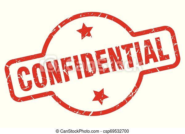 confidential stamp - csp69532700