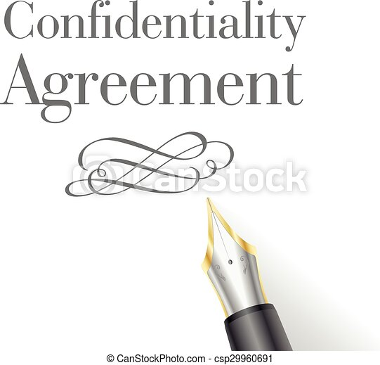 Illustration Of A Confidentiality Agreement Letter With  Eps