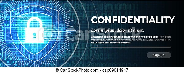 Confidentiality. The Blue Modern Safety Background. Vector. - csp69014917