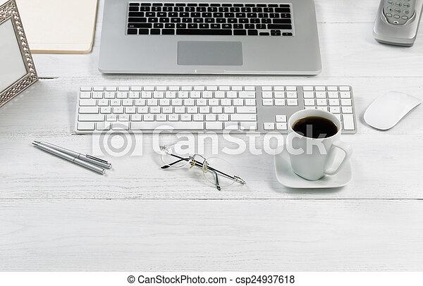 configurar, organizado, eficiência, trabalho, desktop - csp24937618