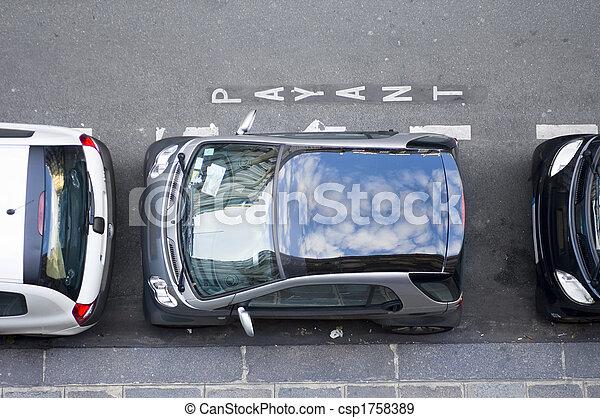 confinado, espaço estacionamento - csp1758389