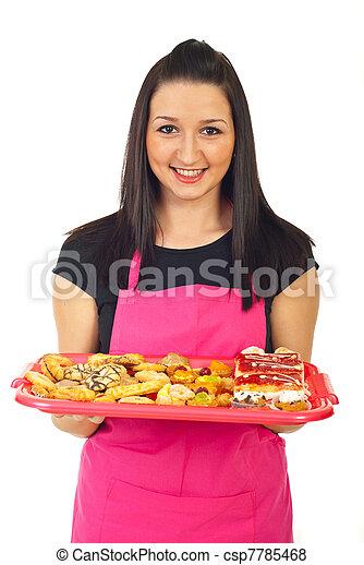 confitero, galletas, tenencia - csp7785468