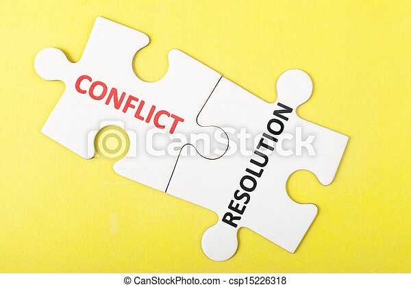 Conflict and resolution words - csp15226318