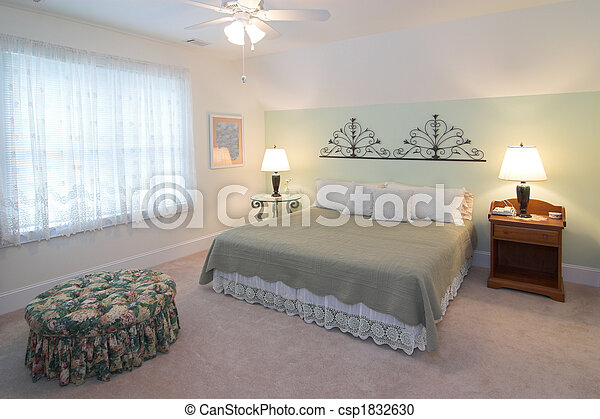 confortable, chambre à coucher - csp1832630
