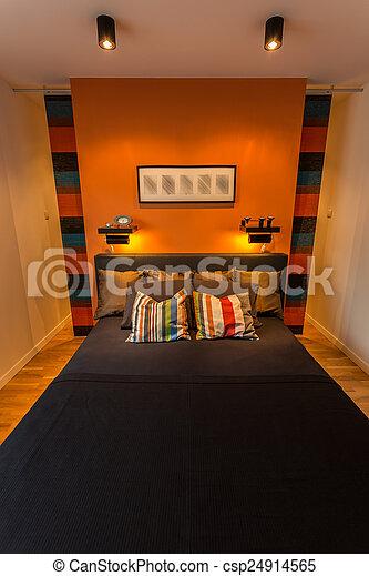 confortable, chambre à coucher - csp24914565