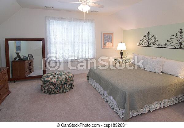 confortable, chambre à coucher - csp1832631