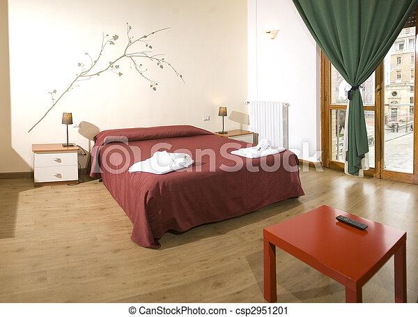 confortable, chambre à coucher - csp2951201