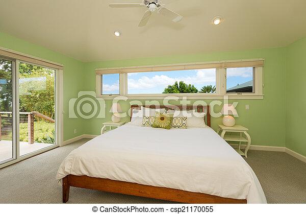 confortable, chambre à coucher - csp21170055