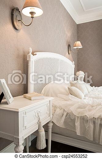 confortable, chambre à coucher - csp24553252