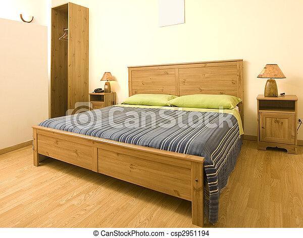 confortable, chambre à coucher - csp2951194