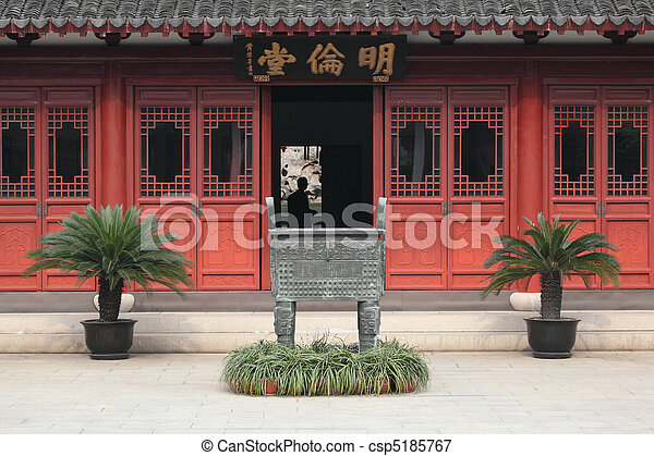 Templo Confucio (Wen miao), Shanghai China - csp5185767