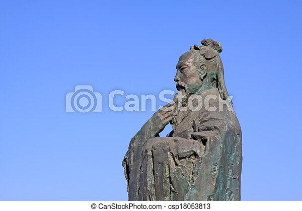 Escultura maestra del confucianismo chino antiguo - csp18053813