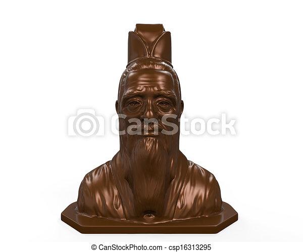 Estatua de bronce de confucio - csp16313295