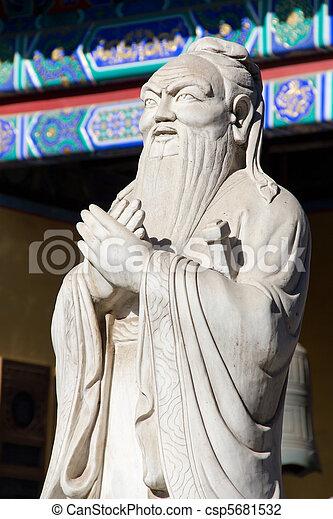 Templo Confucio en Beijing, China - csp5681532