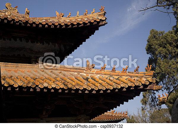 Porcelana del templo confucio - csp0937132
