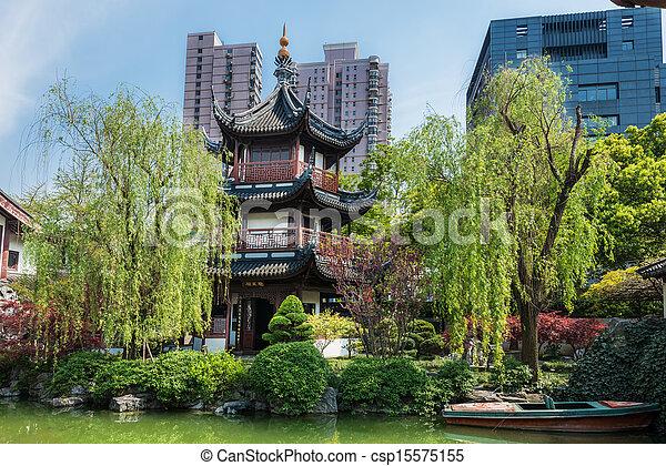 Wen Miao confucius Temple shanghai china - csp15575155