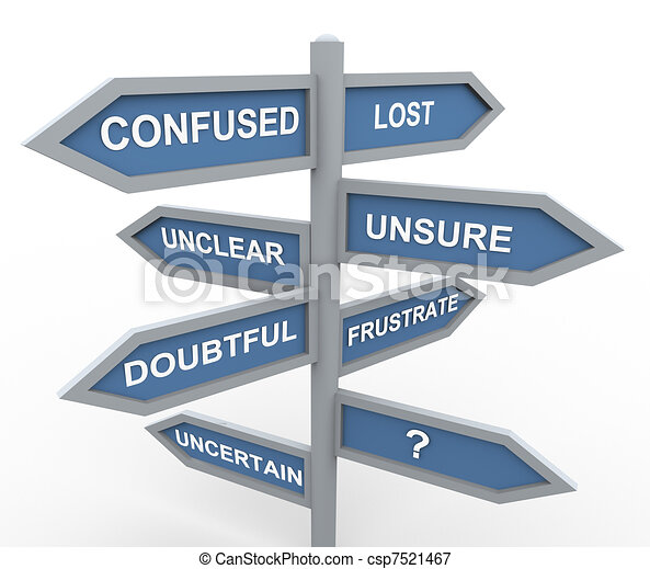 confundido, perdido - csp7521467