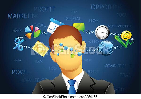 Confused Businessman - csp9254185