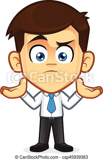 confused businessman gesturing clipart picture of a clip art rh canstockphoto com businessman clipart free businessman clipart images