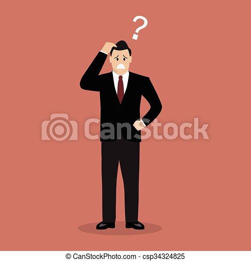 Confused businessman - csp34324825