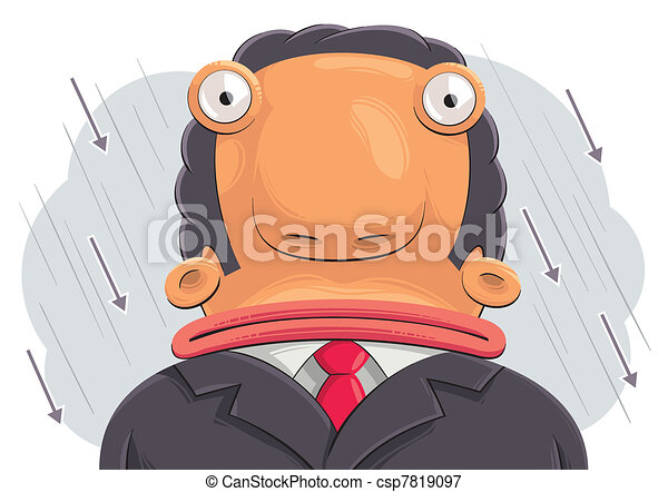 Confused businessman - csp7819097