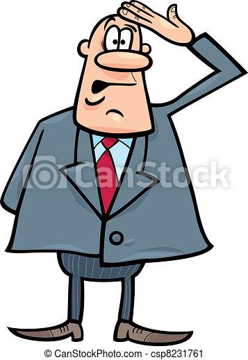 confused businessman - csp8231761