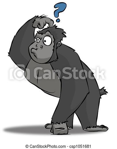 Cartoon Gorilla Confused Wiring Diagrams