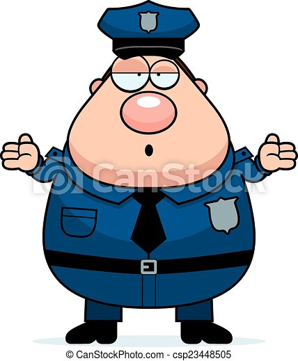 confused police a cartoon illustration of an police officer rh canstockphoto com copy clipart cop clipart images