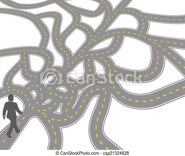 El camino de la confusión de negocios - csp21324628
