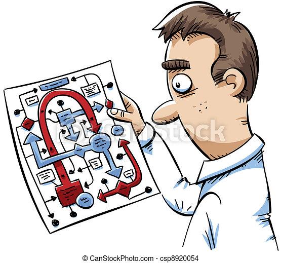 confusion, diagramme - csp8920054