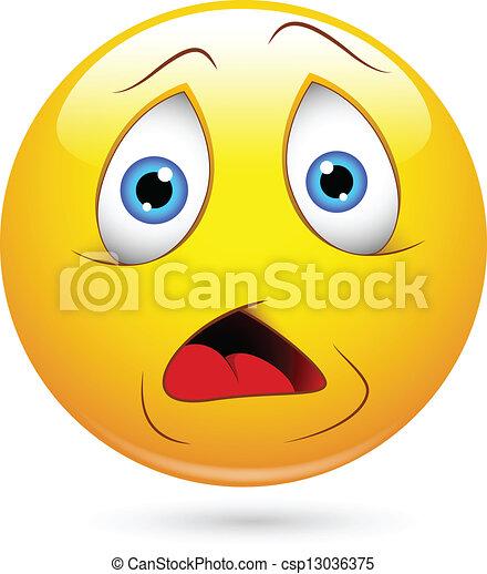 confuso, smiley, espressione, faccia - csp13036375