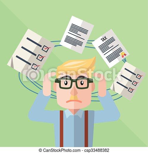 confuso, uomo affari - csp33488382