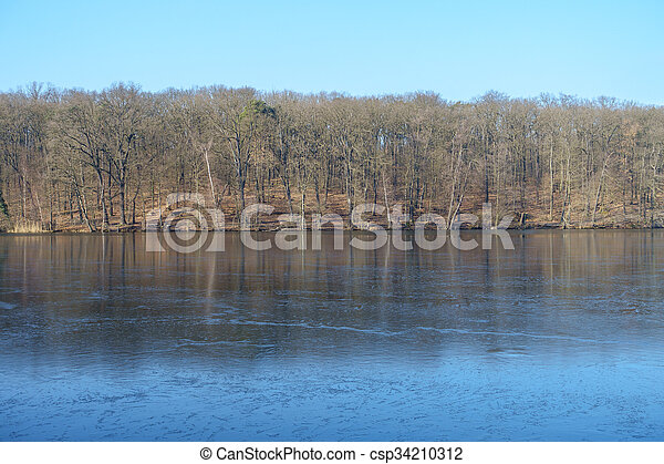 congelado, inverno, lago - csp34210312