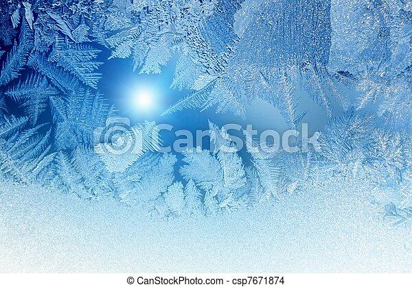 congelado, janela - csp7671874