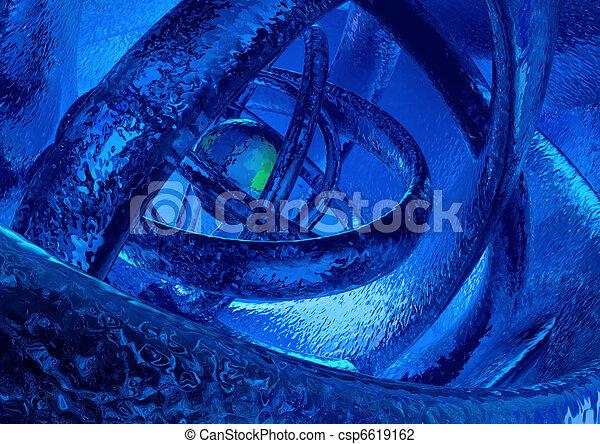 congelado, mundo, resumen, 3d - csp6619162