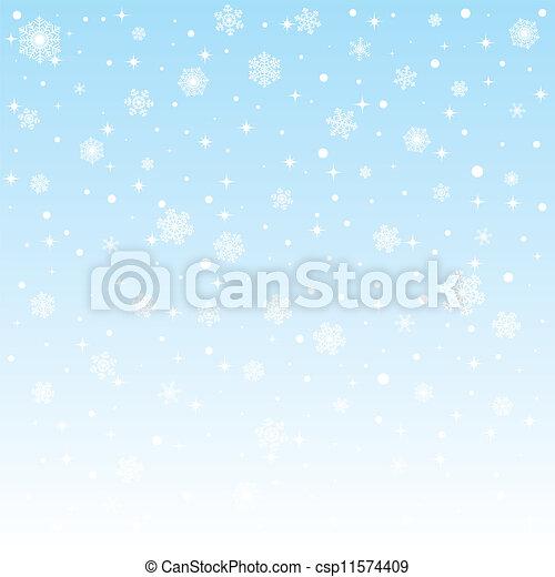 congelado, natal, fundo, snowflakes - csp11574409