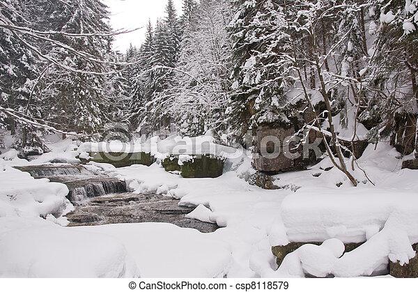 congelato, flusso - csp8118579