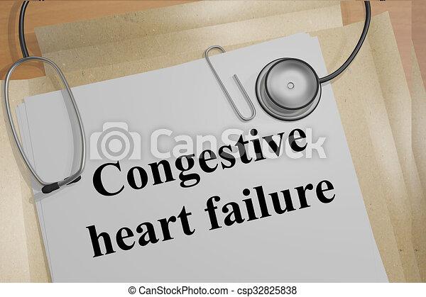 Congestive heart failure concept - csp32825838