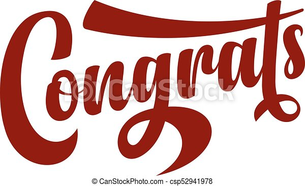 congrats calligraphic text on white background vector vectors rh canstockphoto ca congrats clipart animated congrats clip art free images