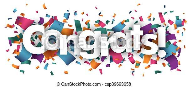 congrats confetti confetti with text congrats rh canstockphoto com congrats clip art images congrats clipart free