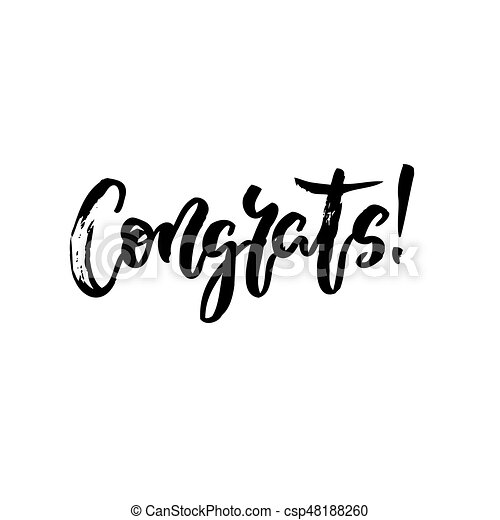 congrats hand written lettering modern brush calligraphy clip rh canstockphoto com congrats clipart gif congrats clipart free